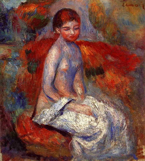 Nude Seated In A Landscape