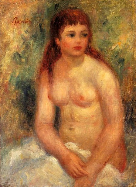 Seated Young Woman, Nude