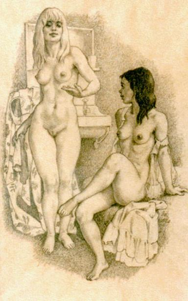 Standing And Seated Nude