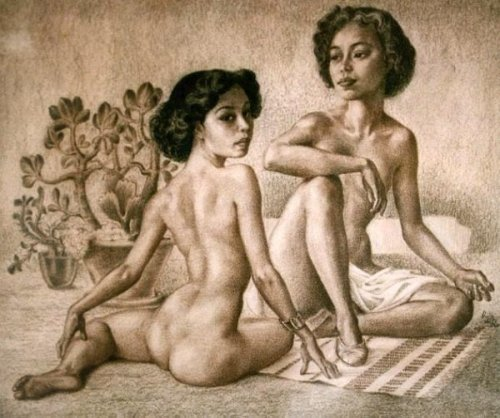 Two Naked Oriental Women