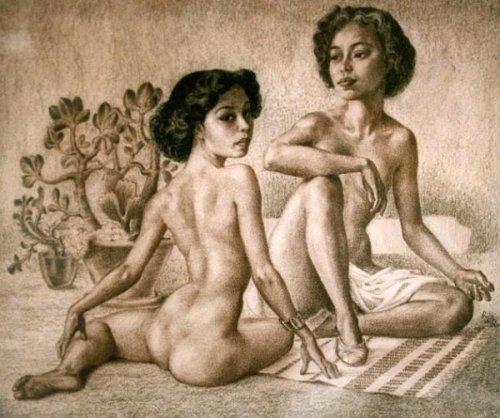 Two Naked Oriental Women