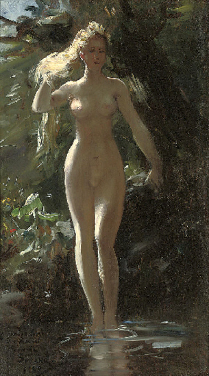 A Nymph In A Woodland Pool