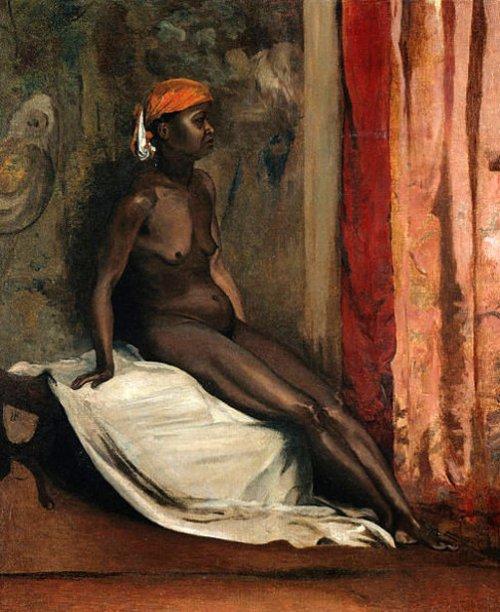 Assis femme africaine