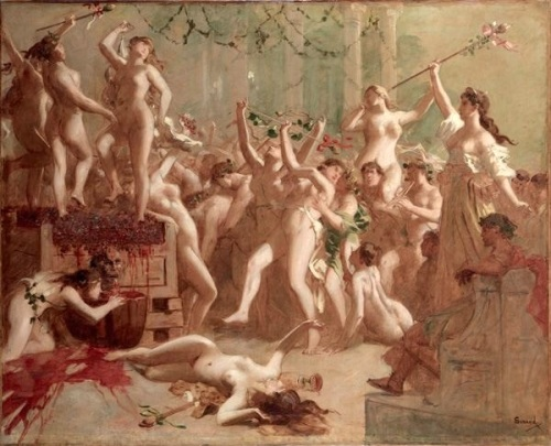Harvest Feast Given By Messalina In The Palace Of Claude In Honor Of Her Lover Silius