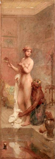 Roman Woman In Her Atrium