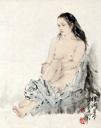 he-jiaying-裸女-nude