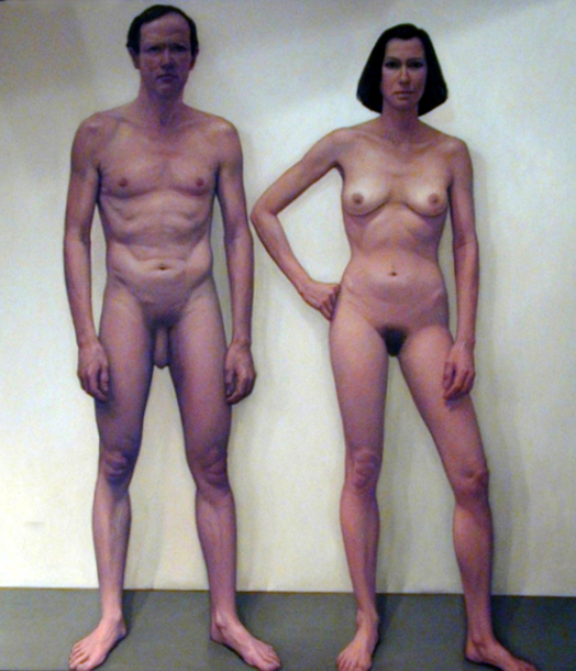 Nude man double woman — 2