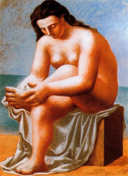 Seated Nude Drying Her Feet