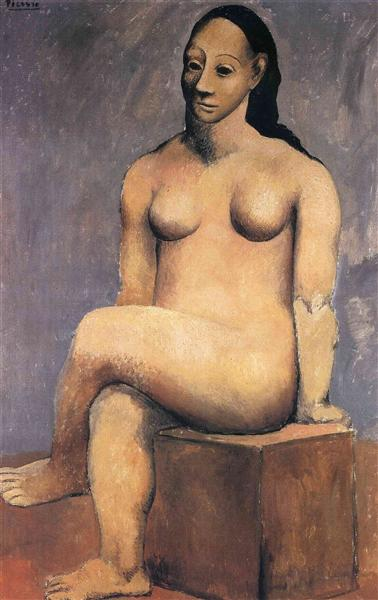 Seated Woman With Her Legs Crossed