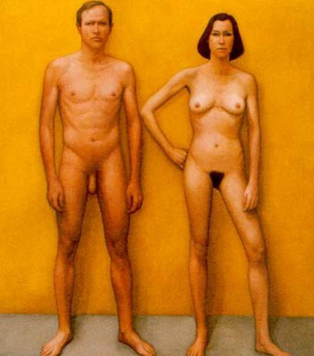 Yellow Painting (Man And Woman)
