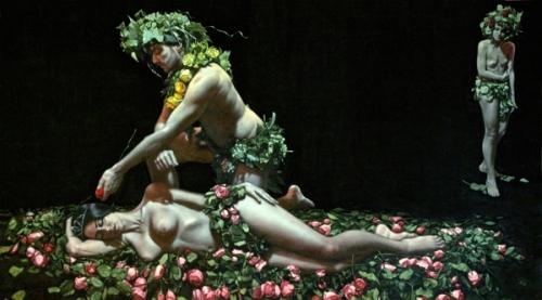 Oberon Squeezes Cupid's Juice on Titania's Eyelids