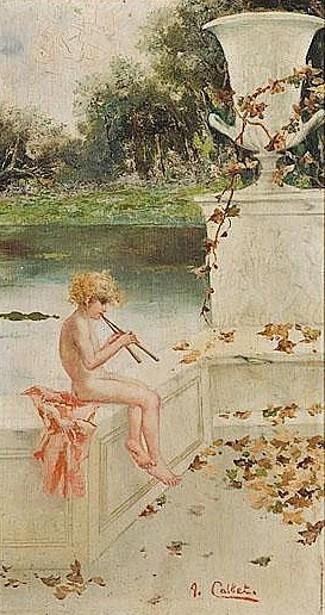 Pan Playing Flute