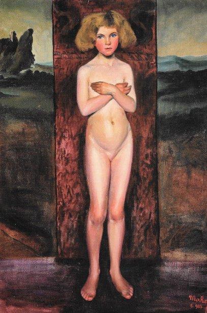 Desnudo de niña con los brazos cruzados (Nude Girl With Arms Crossed)