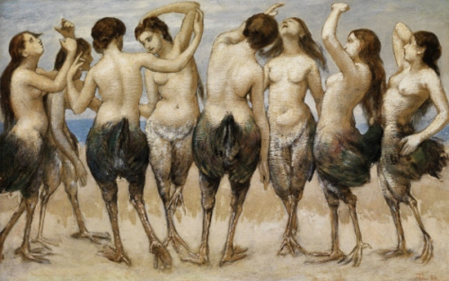 Eight Women Dancing In Bird Bodies