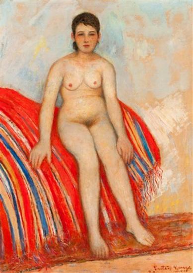 Fille nue à la couverture - Bayadera