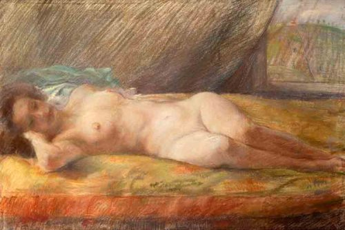 Nudo di donna disteso (Reclining Female Nude)