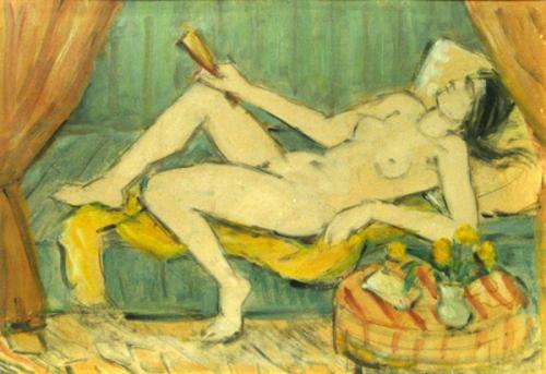 Nude With Fan