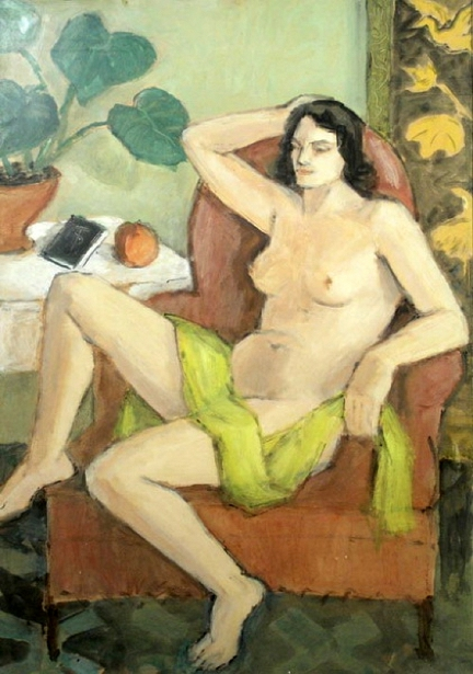 Nude With Yellow Scarf