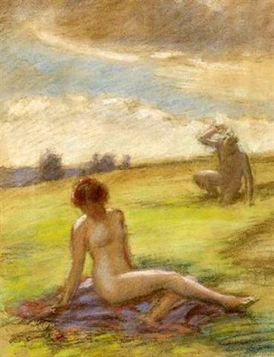 Young Girl And Faun