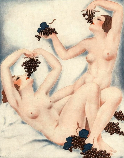 Les grappes de raisin