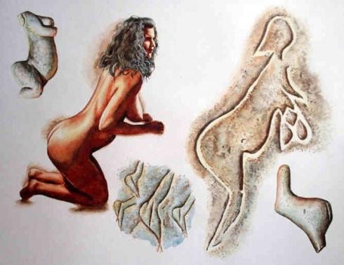 Magdalenian Culture - A Magdalenian Venus With A Hairdo