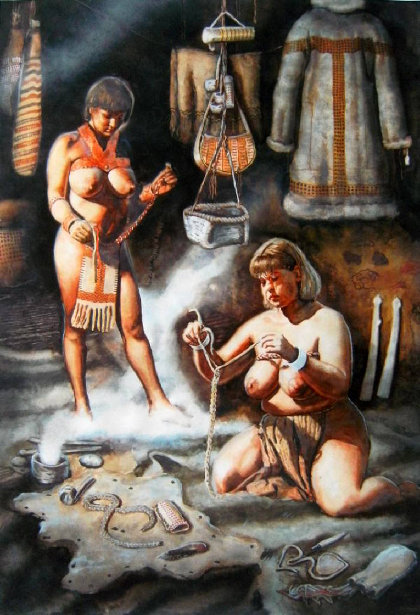 The Culture of Gravettian - In A Dwelling of Kostenki