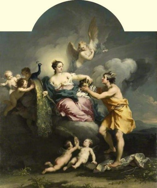 Juno Placing The Eyes Of Argo On The Tail Of A Peacock