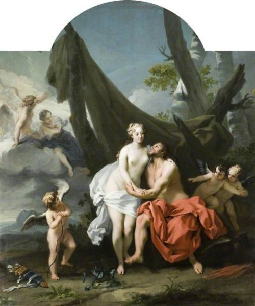 Jupiter And Io With Cupid And Attendant Putti