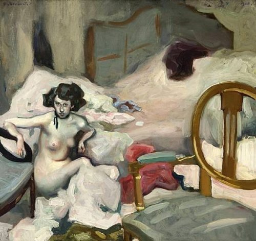 Nude In Front Of A Bed