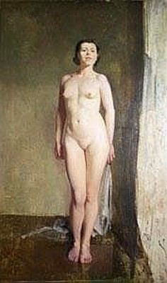 Nude Portrait Of The Artist's Wife, Lilian Ryan