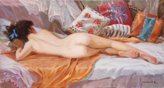 Reclining Nude In The Morning