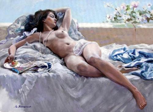 Sleeping Girl - Reclining Nude