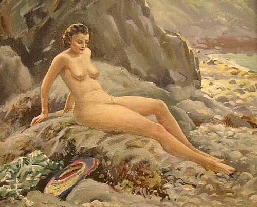 A Nude Bather On A Sark