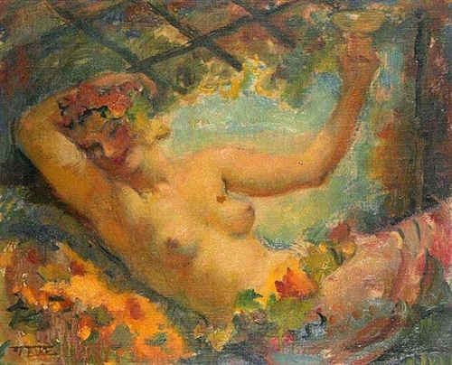 A Semi-Nude Girl With A Cup