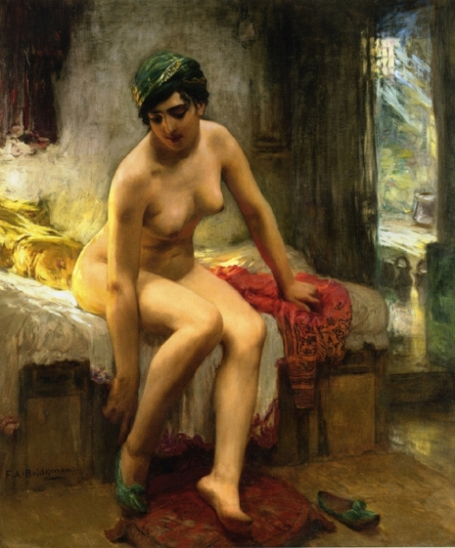 After The Bath - An Algerian Prostitute