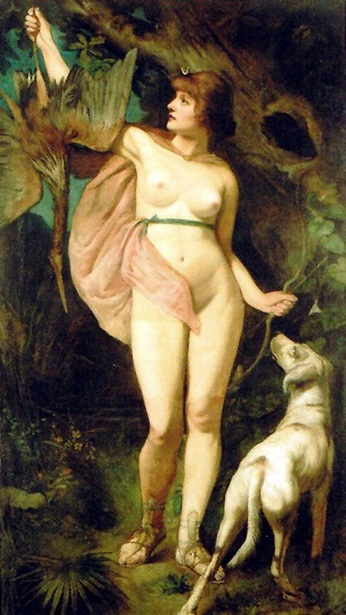 Diana Goddess Of The Hunt And The Moon