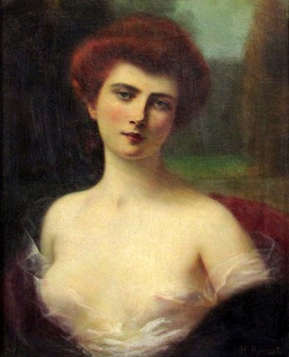 Woman In Diaphanous Dress