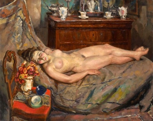 Young Girl Reclining Nude