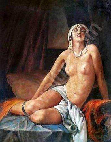 Femme nue en égyptienne