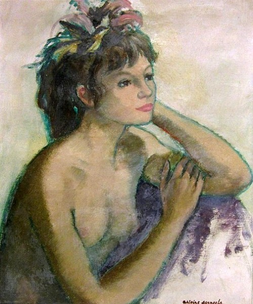 Nude Woman With Flowers In Her Hair