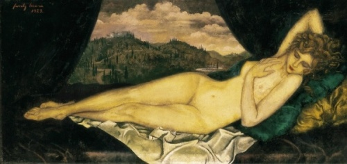 Venus - Nude in Tuscany Landscape