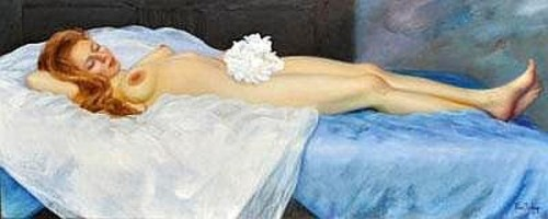 Nude Bride Reclining