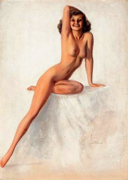 Nude With Right Arm On Head