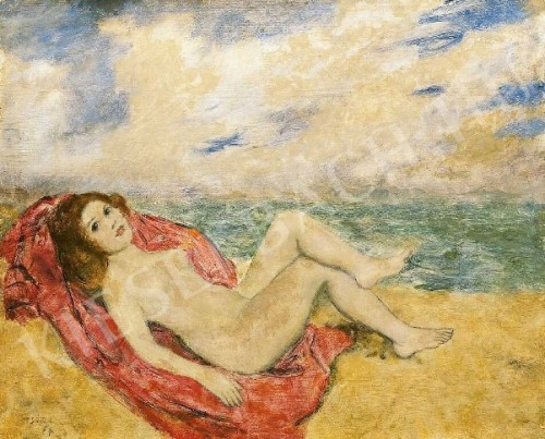 Reclining Nude On The Beach