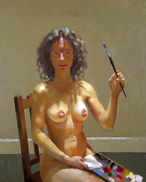 Naked Portrait With Palette