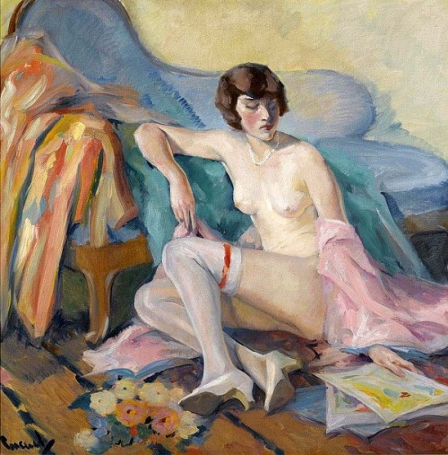 Nude Model - Girl In White Stockings