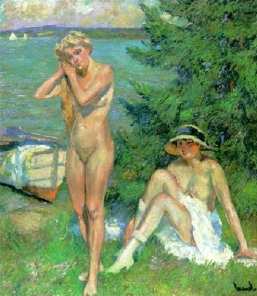 Nudes By A Lake - After The Bath