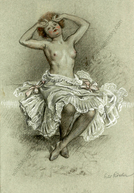 Semi-Nude Woman