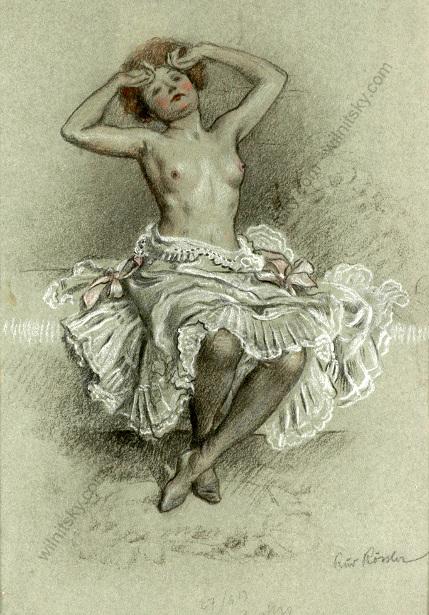 Semi-Nude Woman
