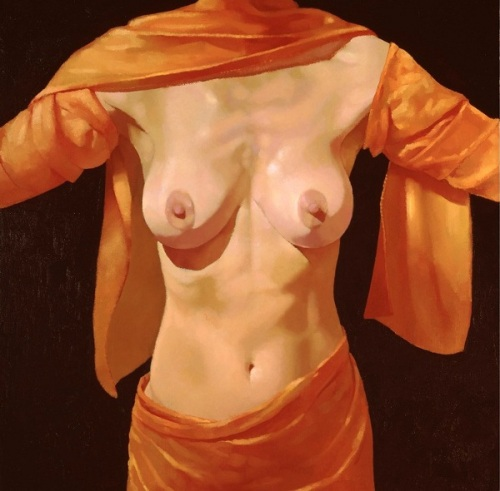 Torso With Orange Scarf
